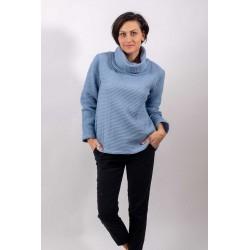 WAFFLE Hoodie - blue grey