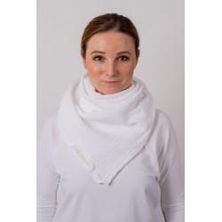 Muslin scarf Square - ecru
