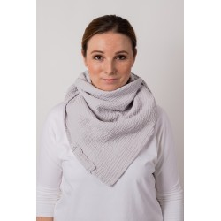 Muslin scarf Square - light...