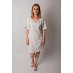 Šaty Linen Love - off white